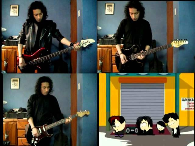 Goth Kids Song - South Park - Guitar and bass cover