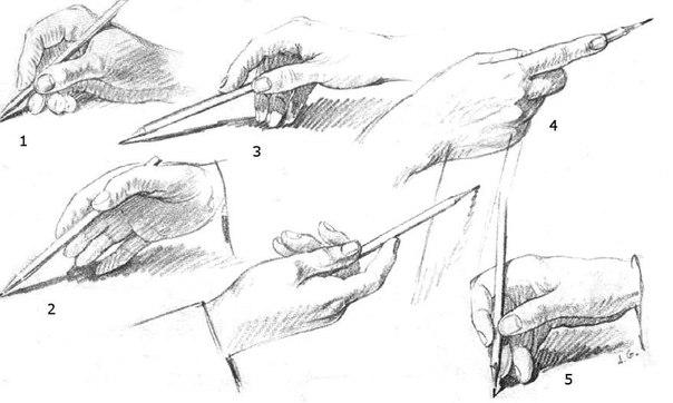 Как правильно держать карандаш: (1 фото) - картинка