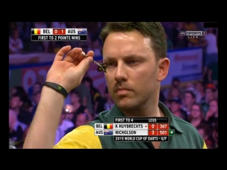 Belgium vs Australia (PDC World Cup of Darts 2015 / Quarter Final)