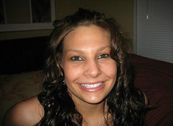 Nice brunette girlfriend posing at Home