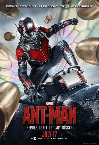 Пол Радд в супергеройском костюме лихо уворачивается от пуль на новом постере «Человека-муравья» от Marvel. Напомним, что компанию ему в фильме составят Эванджелин Лилли и Майкл Дуглас, а Кори Столл станет врагом - Желтым Жакетом.