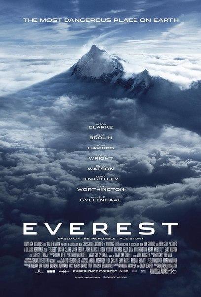 Картина о группе альпинистов, вздумавших покорить легендарную вершину, «Эверест» обзавелась новым постером и промо кадрами. Фильм основан на реальной истории об альпинистах, которые попали в снежную бурю на горе. В ролях Робин Райт, Джейк Джилленхол, Джош