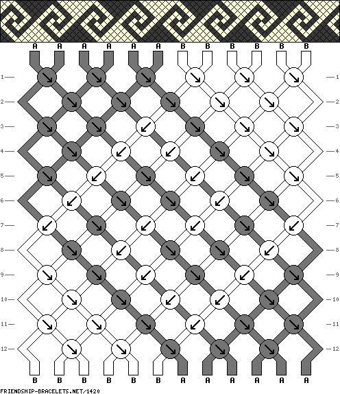 Черно-белая греческая схема