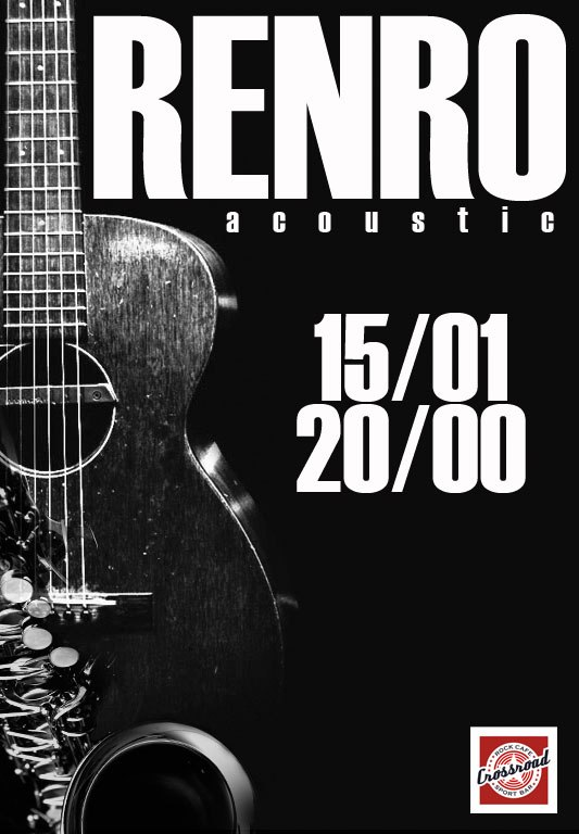 Афиша Хабаровск RENRO/ACOUSTIC/CROSSROAD BAR/15.01.