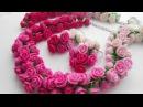 Комплект из роз Маджента полимерная глина