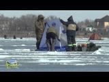 Ух Ты 2015!!! Прикол на рыбалке, Битва с палаткой! Озеро Второе, март.