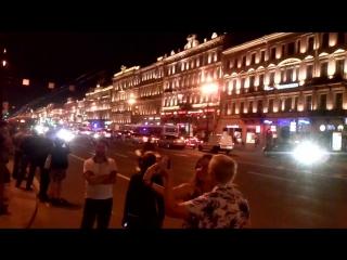 Закрытие мотосезона,Невский проспект,Санкт-Петербург