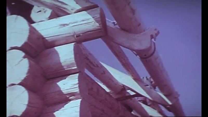Строительство избы. 1972 год. Леннаучфильм.