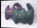 Милые котики из ткани своими руками!