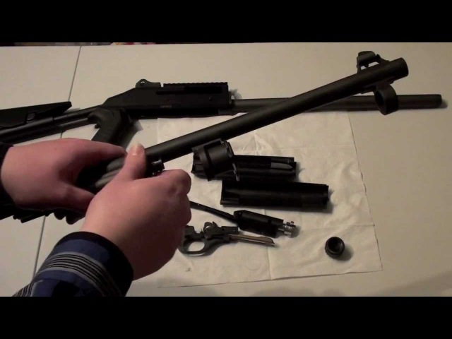 Benelli M4 Super 90 Marines Shotgun disassembly, reassembly, shooting rubber bucks, subsonic