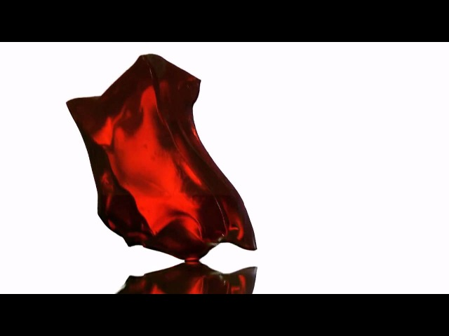 Gelatin cubes dropped onto solid surface High Speed Video 6200 fps