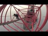 Dünyanın en yüksek ikinci binasına gizlice tırmanan Ruslar