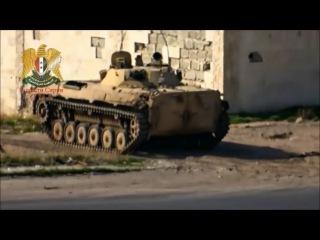 Сирия. Боевик убежал от выстрела БМП (27.01.2016 г.)