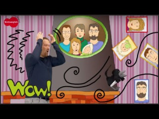 My Family. This is my Mum, Dad, Brother, Sister and Baby. English for Children. English for Kids.