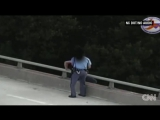 Officer talks man out of jumping off of bridge