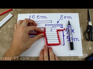 #Как сделать страйкбольный пистолет из бумаги#