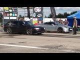 Nissan GT-R R35 VS Audi S4 C4 2.2TQ drag race