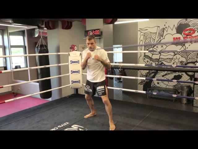 Нырки в боксе, удары по корпусу и голове. Тренировка с использованием веревки от Андрея Басынина