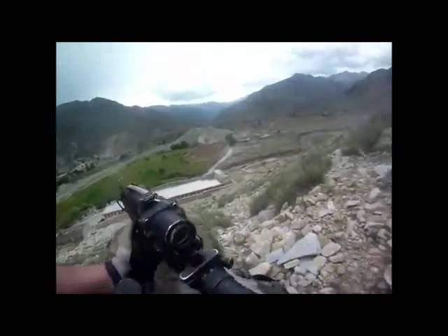 Американца спасает бронежилет и шлем Афганистан