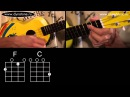 Видео урок как играть песню Somewhere Over The Rainbow Israel Kamakawiwo'Ole на укулеле