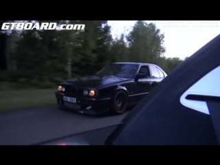 1001 HP Bugatti Veyron Dutchbugs против BMW M5 E34 Turbo 900 RWHP А.Г