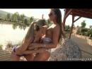 lesbi Natalie Forrest loves nibbling on sexy Vegas sweet tits