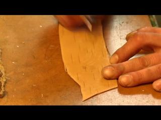 Уникальные изделия из бересты делает житель Колывани Александр МозговОй. Туески, шкатулки, сундуки, панно. Но, главное, это ико