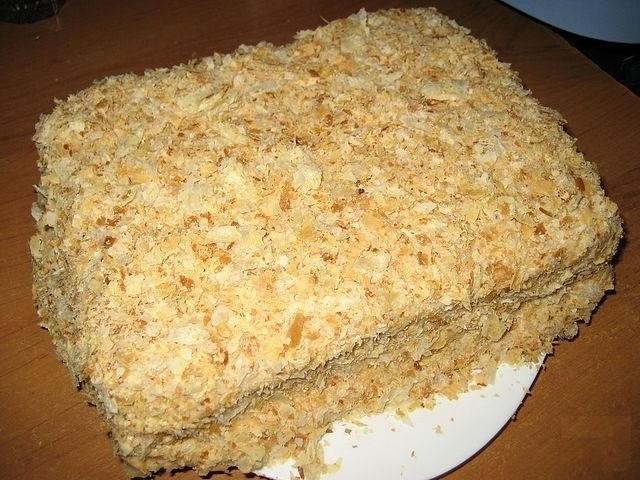 наполеон тортик рецепт с квадратиков