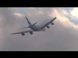Emirates A380 Plane Cuts Cloud