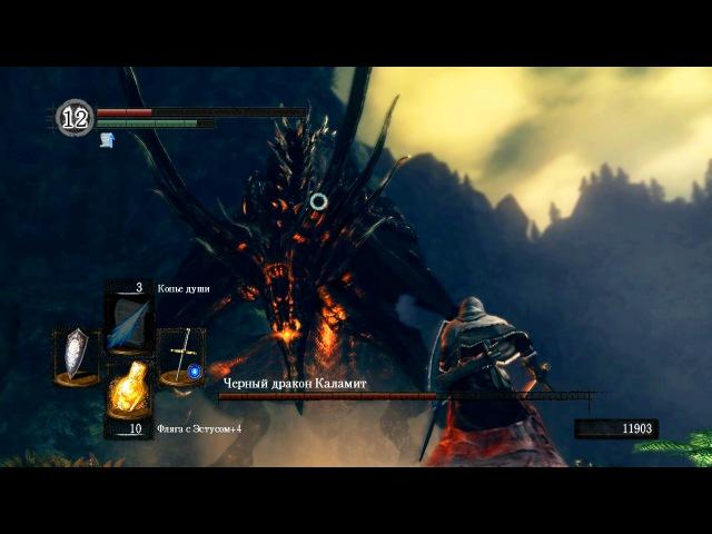 Dark Souls: Black Dragon Kalameet / Черный Дракон Каламит - последний отрубленный хвост в игре.