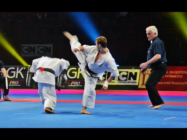 Karaté Kyokushin Championnat d'Europe : Alejandro Navarro vs Andrey Chirkov