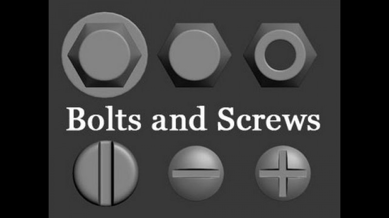 3D Modeling Tutorial 119 - Bolts and Screws (With download)