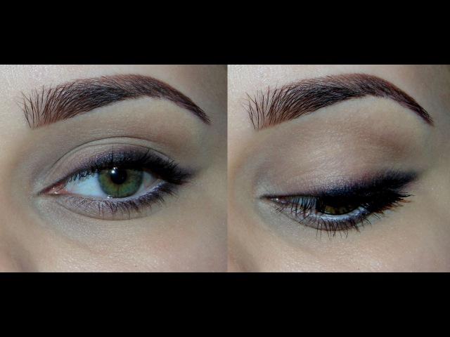 Быстрый ежедневный макияж с мягкими стрелками с палеткой Naked Basics 1
