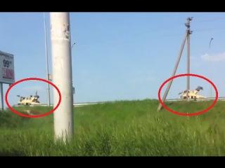 Передвижение украинской военной техники вблизи границ ДНР. .