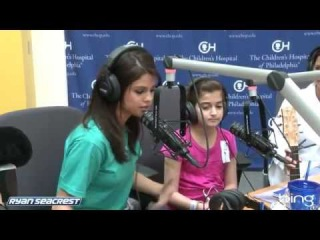 Selena Gomez Sings with Hospital Patient Julia | Interview | On Air With Ryan Seacrest