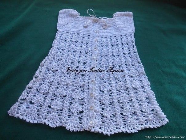 Ажурное платье для девочки. (3 фото) - картинка