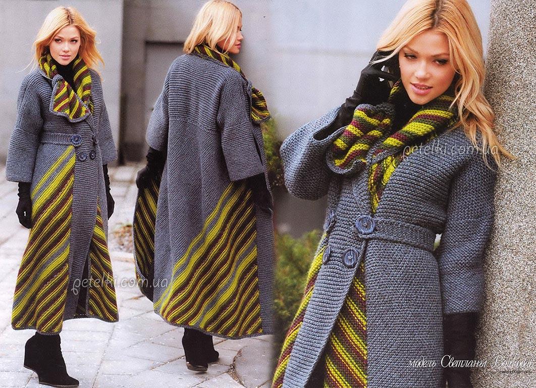пальто вяжем оригинальное