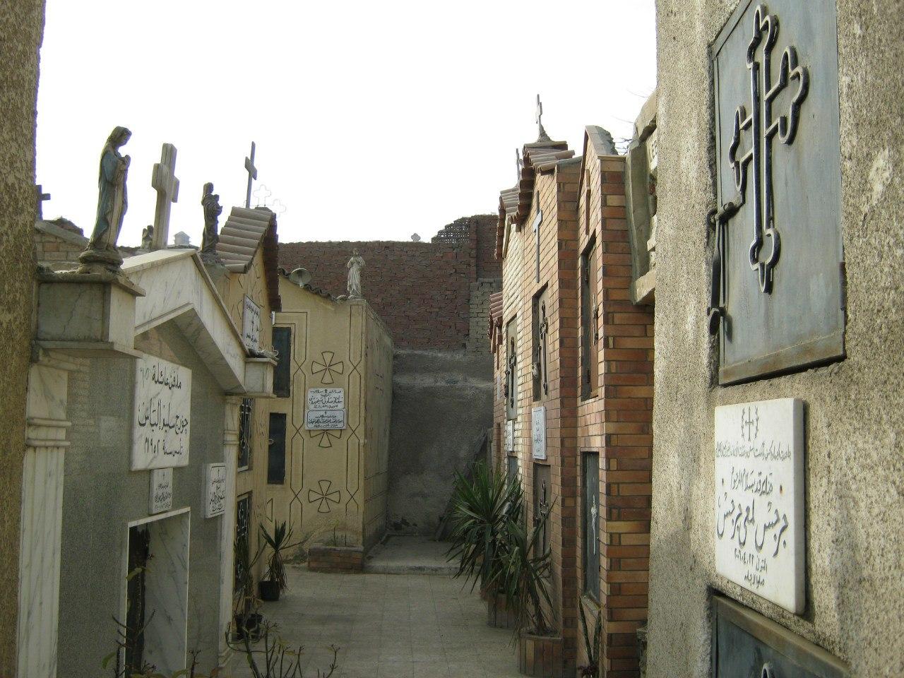 кладбище около старого христианского Каира