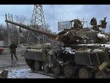 Донецк 16.02.15. Подбитая укропская техника у аэропорта