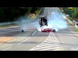 BIG CRASH 24H LE MANS 2012 DAVIDSON FLYING THROUGH AIR ! TOYOTA #8