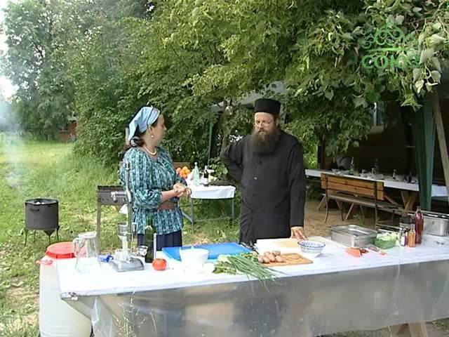 Кулинарное паломничество От 30 июня Кулинарный экспромт от игумена Серафима Симонова