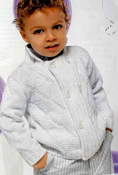Жакет для мальчика (2 фото) - картинка
