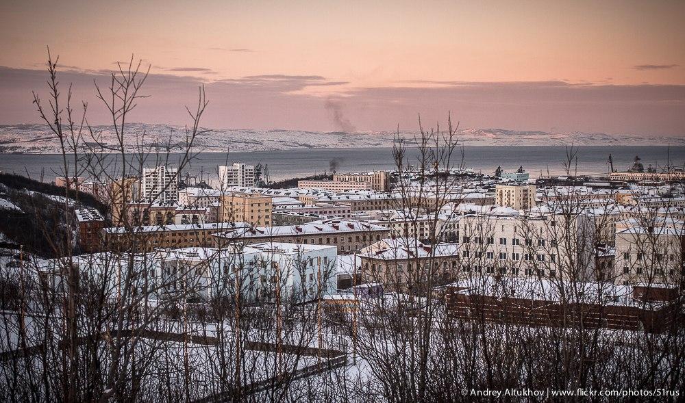 Зима в Североморске