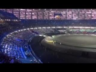 Как стадион встречает сборную Украины на Первых европейских Олимпийских Играх!