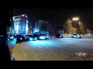 STREET DRIFT Epidemic in Irkutsk! The BEST moments of Winter 2014!