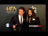 Benedict Cumberbatch, Gerard Butler, Eddie Redmayne, Jared Leto Hollywood Film Awards Press Room