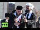 Выступление потомка Пророка Мухамеда ﷺ шейха Хабиба Али Джифри на митинге в Чеч...