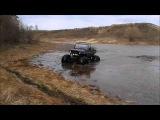 Испытания автомобиля УАЗ на шинах низкого давления  Водные преграды