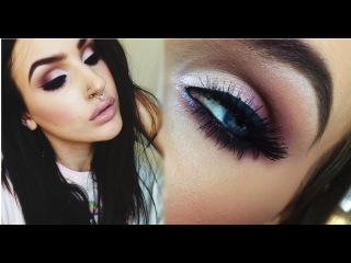 ♡ Fall makeup tutorial   Sexy smokey plum cat eye ♡
