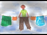 Солнце в мешках. Лебедева Анастасия, 11 лет